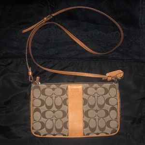 Coach Crossbody Purse Canvas and Leather
